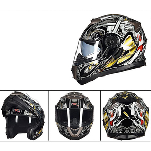 Summer New GXT motorcycle helmet male full helmet personality double lens full-cover anti-fog(China)