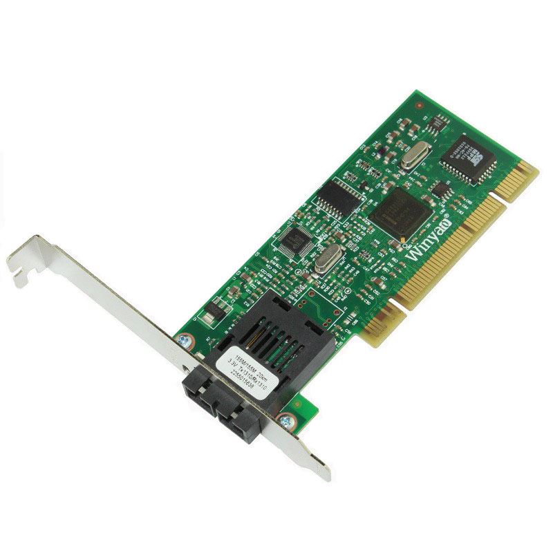 PCI 100M Fiber Ethernet Server Card Single Mode SC 1310nm 25km Optic Transceiver pcie x1 gigabit fiber card single mode 1310nm 10km lc optical transceiver module