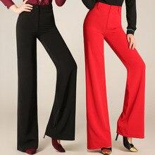 Women's Plus Size Cotton Black Slim Flare Pants High Waist Long Trousers Women Office Work Pants Wide Leg Thin Female Trousers