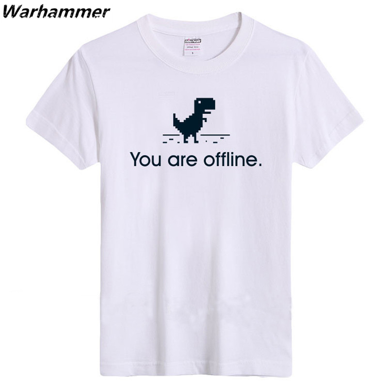 Creative Google 404 You Are Offline Mens Regular   T  -  shirt   Womens Fashion Casual   T     shirts   Tee Geeks Gifts Big Size 100%Cotton Top