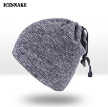 ICESNAKE Motorcycle Cold-proof Ski Cycling Mask Moto Scarf Autumn Winter Thermal Fleece Hat Cap