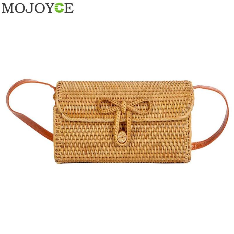 все цены на Bali Bohemia Summer Beach Circle Bag Island Hand Rattan Woven Bag Square Butterfly buckle Rattan Straw Bags Satchel Wind Bag