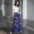 2017 RUIYIGE New Summer Style Long Maxi Pleated Skirts Beach Floral Print  Sexy Women's Long Skirt Female Saias Longas Feminina