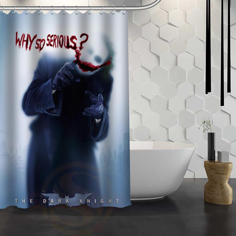 Hot Sale Custom Joker Shower Curtain Waterproof Fabric Shower Curtain for Bathroom F#Y1-17