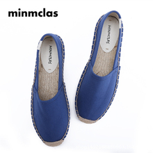 2018 New Fashion Embroidery Comfortable Ladies Womens Casual Espadrilles Shoes Breathable Flax Hemp Canvas for Girls