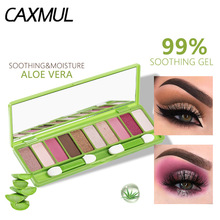 LANGMANNI Brand Aloe 10 color eyeshadow plate pearl light matte for lady makeup