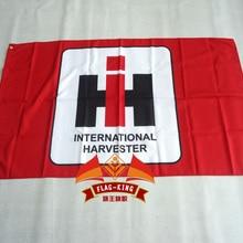 Международный комбайн Гоночный флаг, 90*150 см полиэстер Международный комбайн баннер