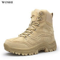 Winter Autumn Men Military Boots Special Force Tactical Desert Combat Ankle Boats outdoor Army Work Shoes Leather Snow Boots k3