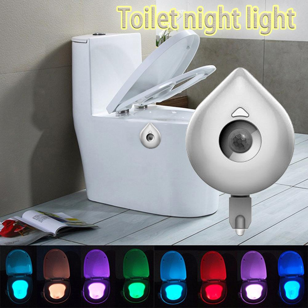Led Night Lights 8 Colours Sensor Body Motion Toilet Night Light Sensor Led Lamp Motion Smart Sensor Light Dropship 6.29 To Have A Long Historical Standing