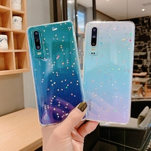 Case For Huawei p20 lite p30 pro nova3i Clear Cute Bling Star Soft Silicon Cover honor 8x 7x 10 mate10pro p8 p10