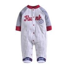 Купить с кэшбэком baby romper baby boys pajamas rompers one-piece baby girls bag feet Jumpsuit romper 100% Cotton