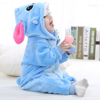 [blueshine]Spring Autumn Flannel Baby Boys Clothes Cartoon Animal Jumpsuits Baby Clothes Infant Girls Rompers Baby Clothing