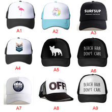 d99afdedeb6 2018Summer Solid Color Logo Printing Custom Baseball Cap Mesh Hat Men And Women  Fashion Cotton Custom Hat Snapback Caps LGDTUT