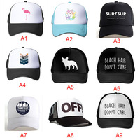 2018Summer Solid Color Logo Printing Custom Baseball Cap Mesh Hat Men And Women Fashion Cotton Custom Hat Snapback Caps LGDTUT