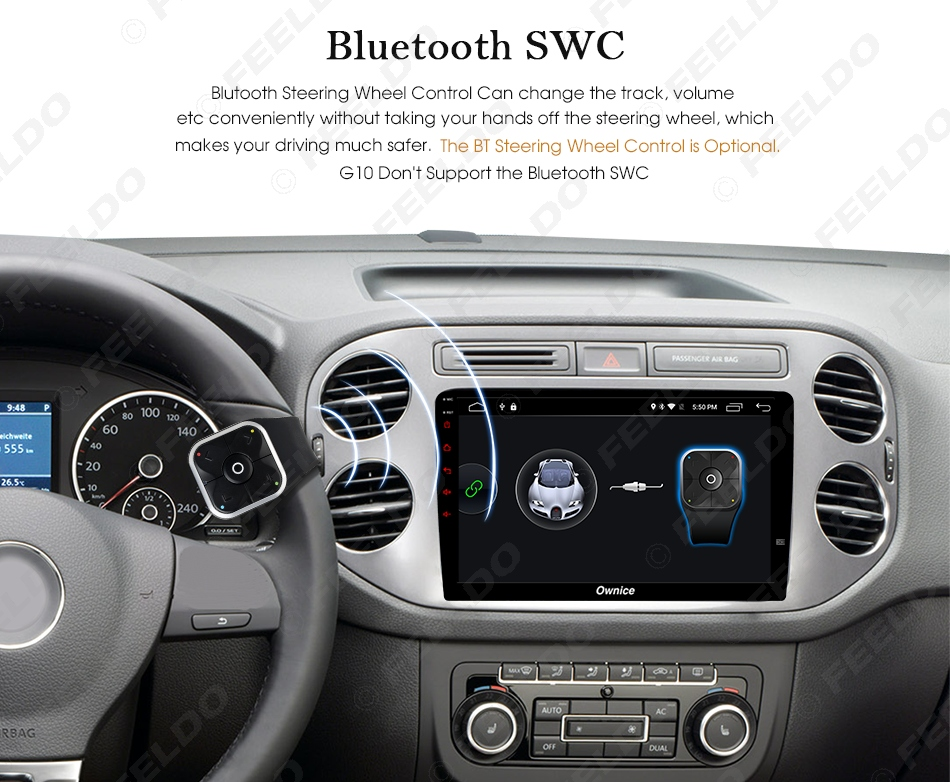 """Cheap FEELDO  10.1"""" Android 6.0 4-Core/DDR3 1G/16G/Support 4G Dongle Car Media Player With GPS/FM/AM RDS For Superb 2016 (Superb B8) 11"""