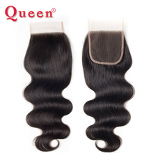 Queen Hair Products Brazilian Lace Closure Free Part Brazilian Body Wave Lace Closure 100% Human Hair Closure Bleached Knots