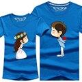 Комикс T рубашка 8 цветов влюблённые одежда женщины в мужчины в свободного покроя короткий рукав T - рубашки для пар S - 4XL хлопок тис