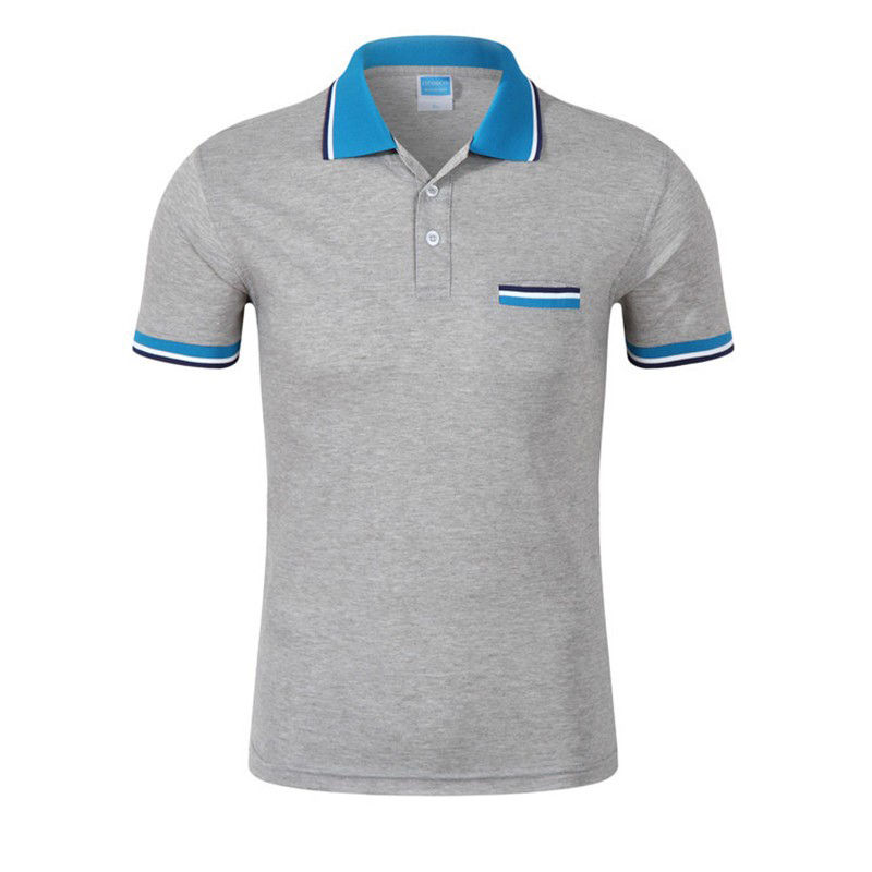 Men   Polo   Shirt 2019 Brand New   Polos   Men Casual Cotton Short Sleeve Shirts Men   Polos   Pocket Decorated Turn-down Collar Tees Tops