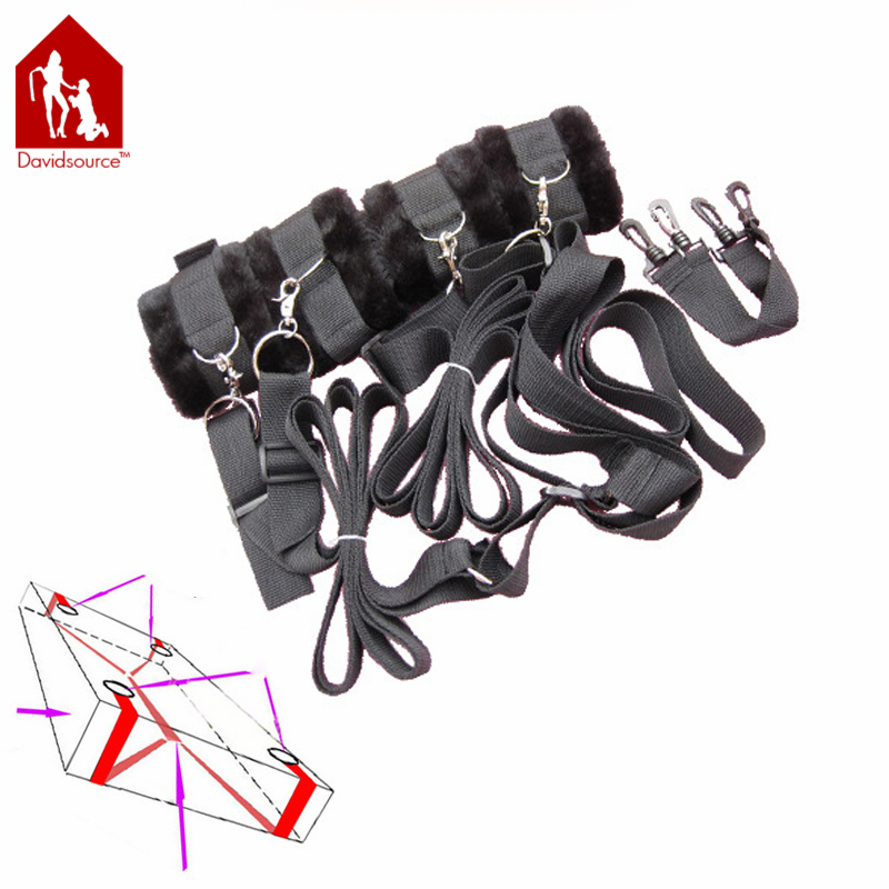 Davidsource Straps On Furry Limbs Cuffs Handcuffs Ankle Cuffs Bed Bondage Outfit Kinky Fetish Restraint Gear Adult Sex Toy