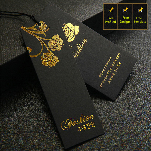 Free Design Customized High Grade Garment Black Hang Tag For