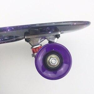 "Image 5 - 22 inch Kids Mini Fish Skateboard Purple color mixed universal Plastic Cruiser Board Completes Nologo 22"" Banana Skateboard"