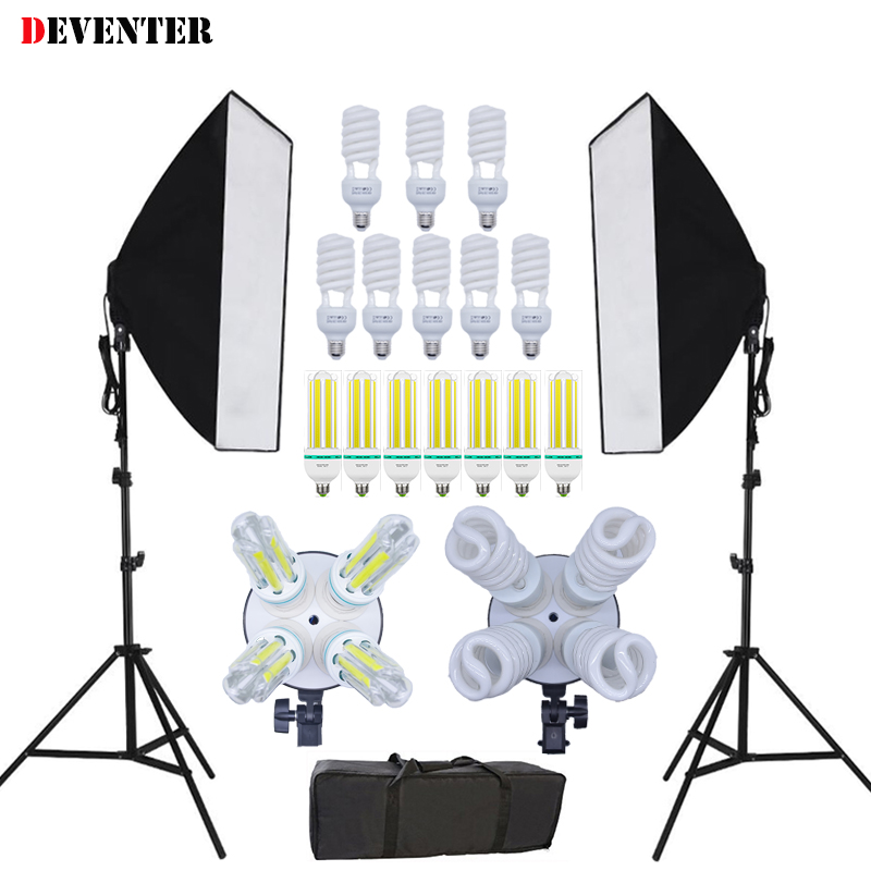Photo 50x70 CM 2 M Light Stand Photo Studio LED Photography Lighting Kit