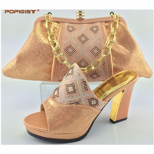 New Peach Shoes and Bag To Match Italian African Wedding Shoe and ...