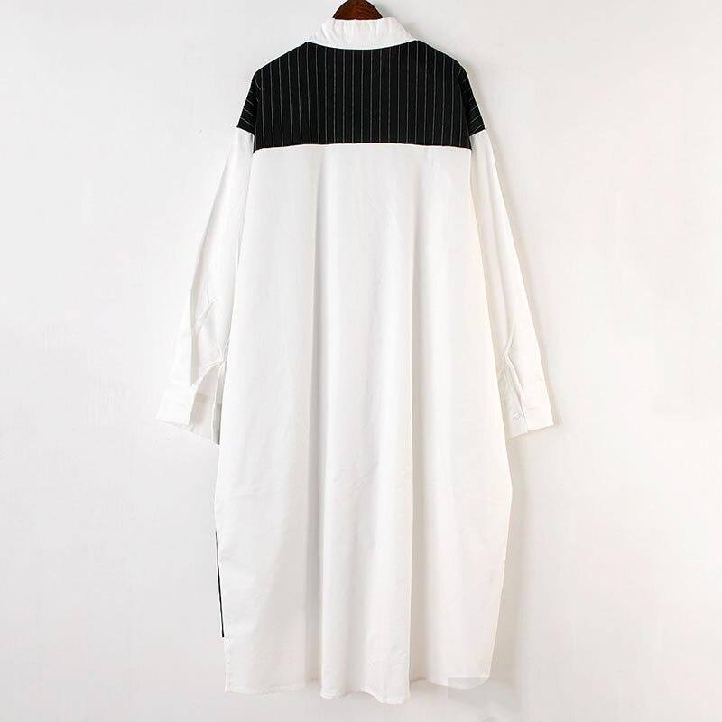 Платье XITAO женское, повседневное, в полоску, с длинным рукавом