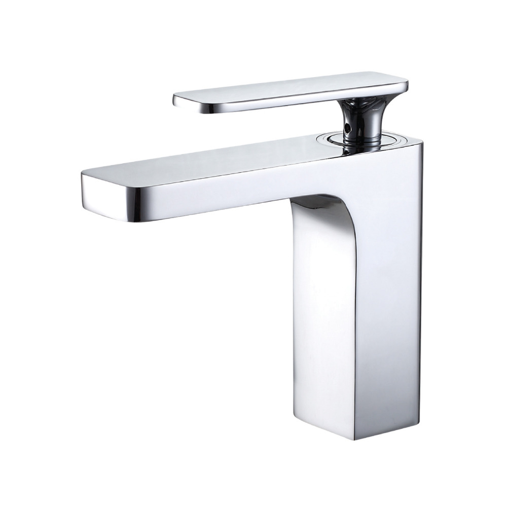 Waterfall Sink Faucet Chrome Single Handle Single Hole Mixer Bathroom Taps Widespread Basin Faucets Cold And Hot Water Tap