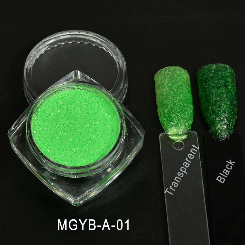 Mgyb un 6 colores del Neón fluorescente Brillos de uñas Polvos de ...