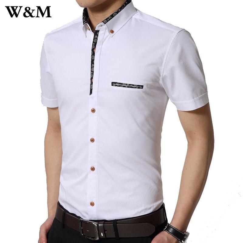 9243a601c6   a   M   Mens camisas de vestir 2016 nueva hombres camiseta Slim Fit  Formal manga corta marca moda elegante 100% algodón camisetas blanco azul  gris en ...