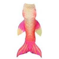 One Piece Hot Sale Cosplay Costume Kids Girl Adult Women Mermaid Tail Swimsuit Tail Swimwear Little