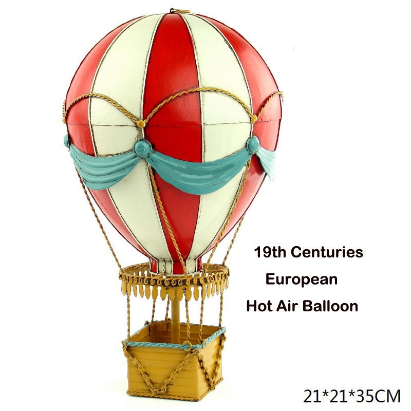 19th century European Hot Air Balloon Metal Simulation Model Diecast Handmade fire ballon Iron crafts collection gift toy kids retro tinplate metal motocross models collection classic handmade arts and crafts dirt bike model
