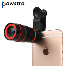 POWSTRO Universal 8X Zoom Telescope Phone Camera Lens with Clip for iPhone Samsung HTC Huawei Xiaomi Other Mobile Phones
