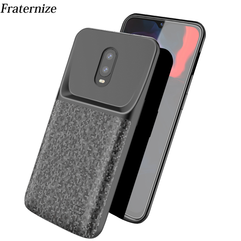 Oneplus 6t power case Silicone Shockproof battery case for Oneplus 6T Battery cases External slim power bank Charging Back Cover