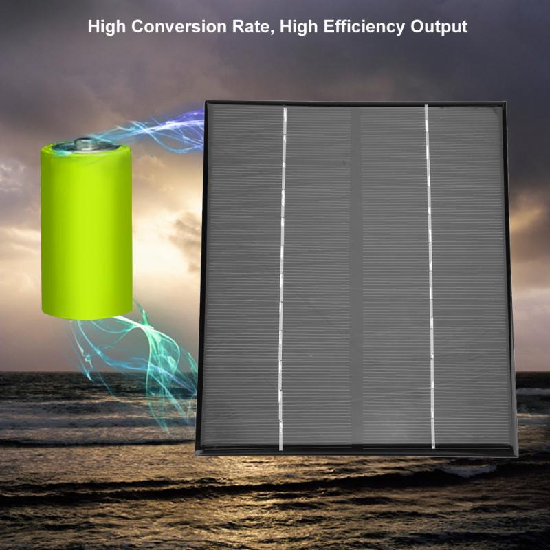 Mini Portable Monocrystalline Silicon Solar Panel DIY Power Module Charger 200*170mm 6W 12V
