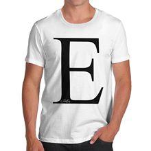 Twisted Envy Men s Alphabet Monogram Letter E T-Shirt Quality T Shirts Men Printing  Short 664f38a2947c