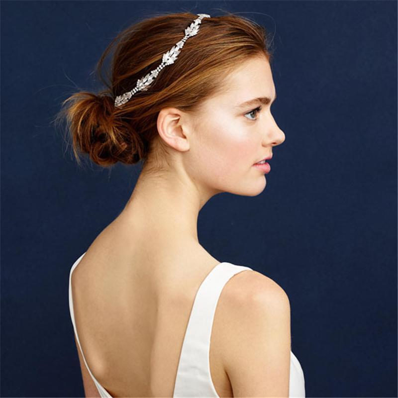 Wedding Headband Forehead Head Chain Hair Jewelry Tiara Rhinestone Tiaras And Crowns Bridal Hair Accessorie Headpiece WIGO0548