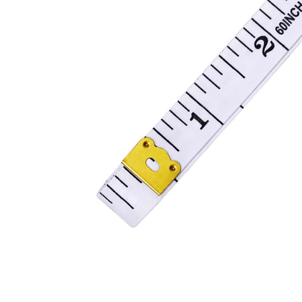 بوصة شريط القياس اللون البلاستيك أشرطة القياس حاكم طول 1.5 متر