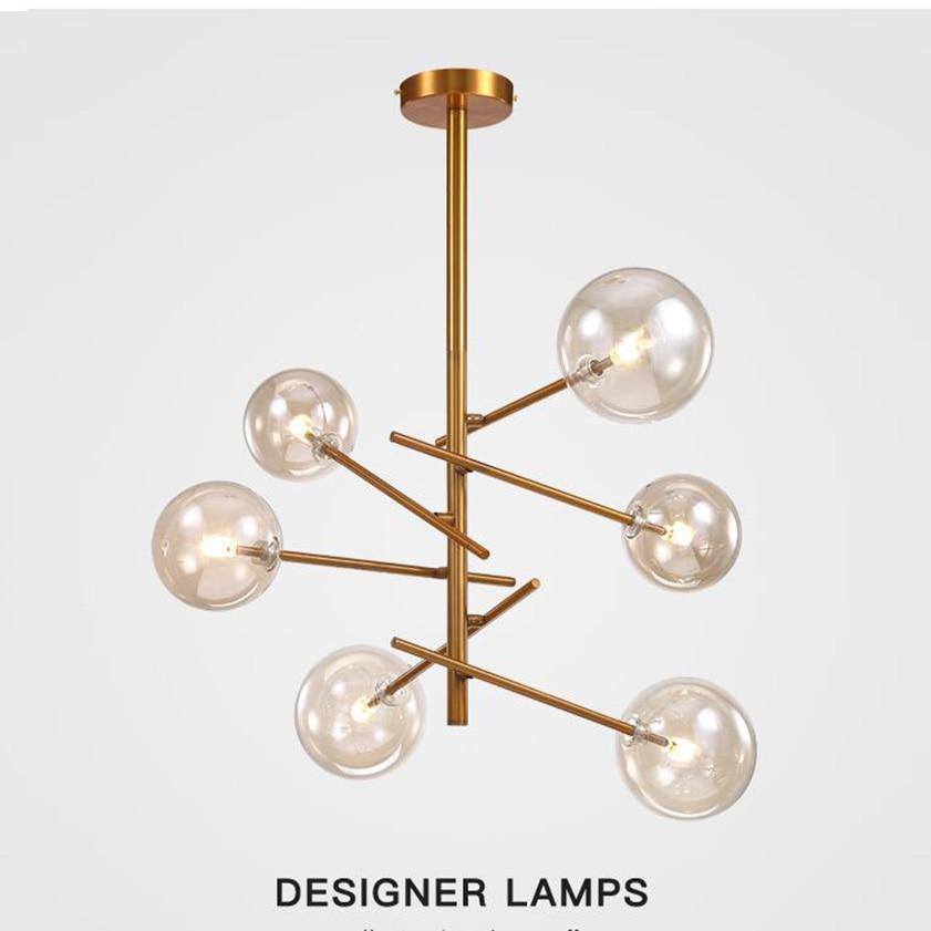 Postmodern LED Pendant Light Magic Bean DesignerTree Living Room Restaurant Glass Ball Pendant Lamp|Pendant Lights| |  - title=