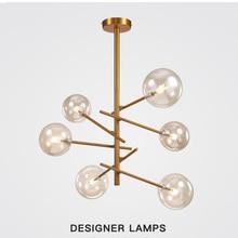 Postmodern LED Pendant Light Magic Bean DesignerTree Living Room Restaurant Glass Ball Pendant Lamp