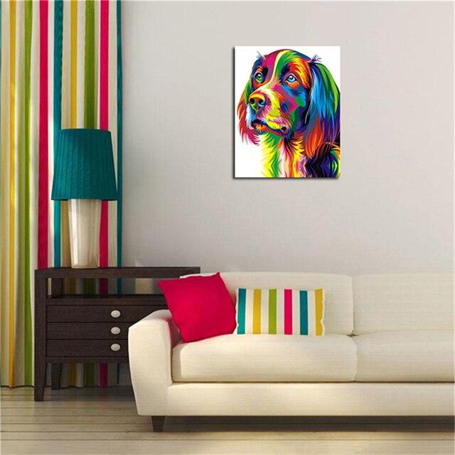 aliexpress koop leuke hond olieverf voor woonkamer tekening