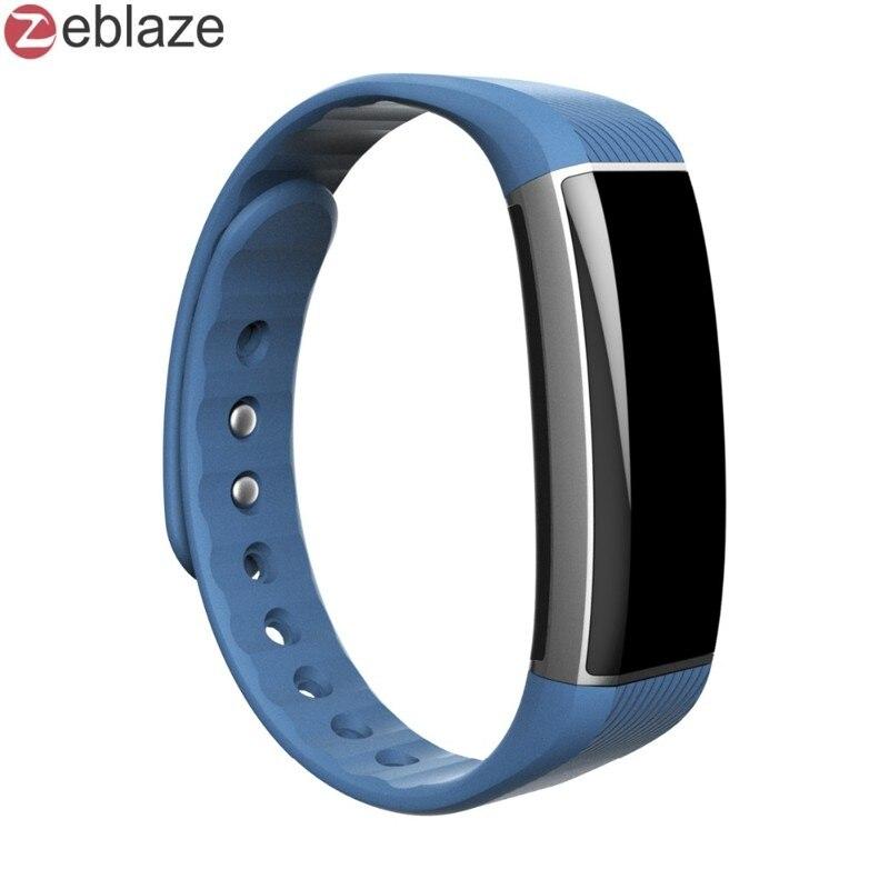 imágenes para Elegante Original Pulsera Zeblaze ZeBand Heart Rate Monitor Inteligente Fitbit Banda Inteligente Bluetooth para el iphone Android PK