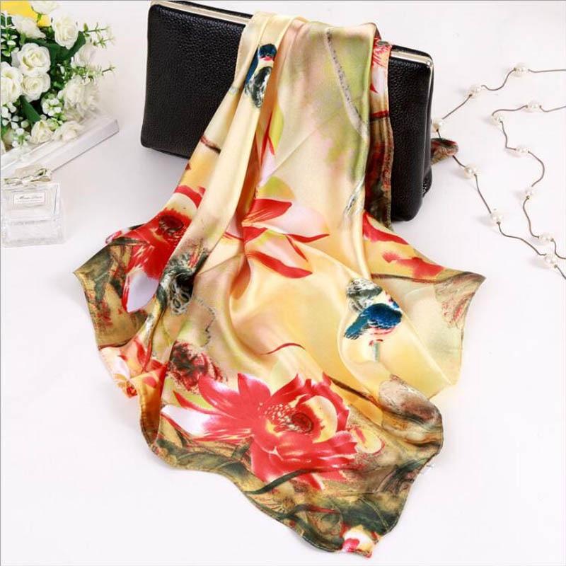 Scarf For Women Fashion 2019 Spring & Autumn Feminine Scarf Small Squares Head Scarf High Quality Scarves For Ladies Bandana