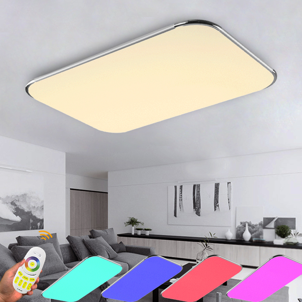 ФОТО Modern Led Ceiling Lights Living Room 2.4G Remote Group Controlled Dimmable Color Changing home  Ceiling Lamp Luminaire Light