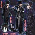 Sword Art Online Kirito Cosplay Costume Coat In Stock Anime Sword Art Online Kirito Cosplay Clothes