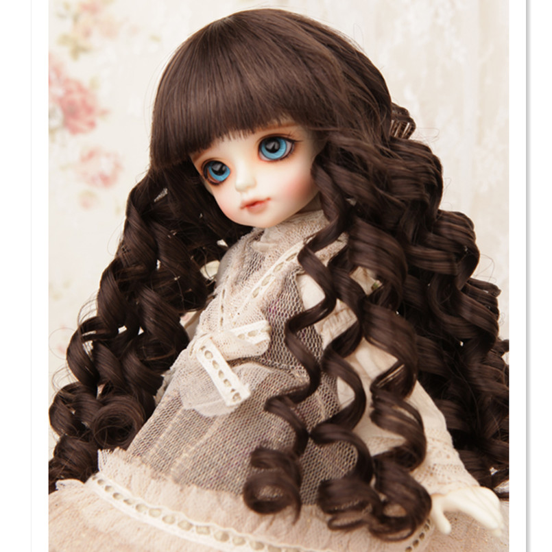 Beautiful Long Wavy Doll Wigs For 1/3 1/4 1/6 BJD Dolls,New Design Curly BJD Wig Synthetic Doll Hair for Dolls Accessories 1 8 1 6 1 4 1 3 uncle bjd sd dd doll accessories wigs gold long straight hair