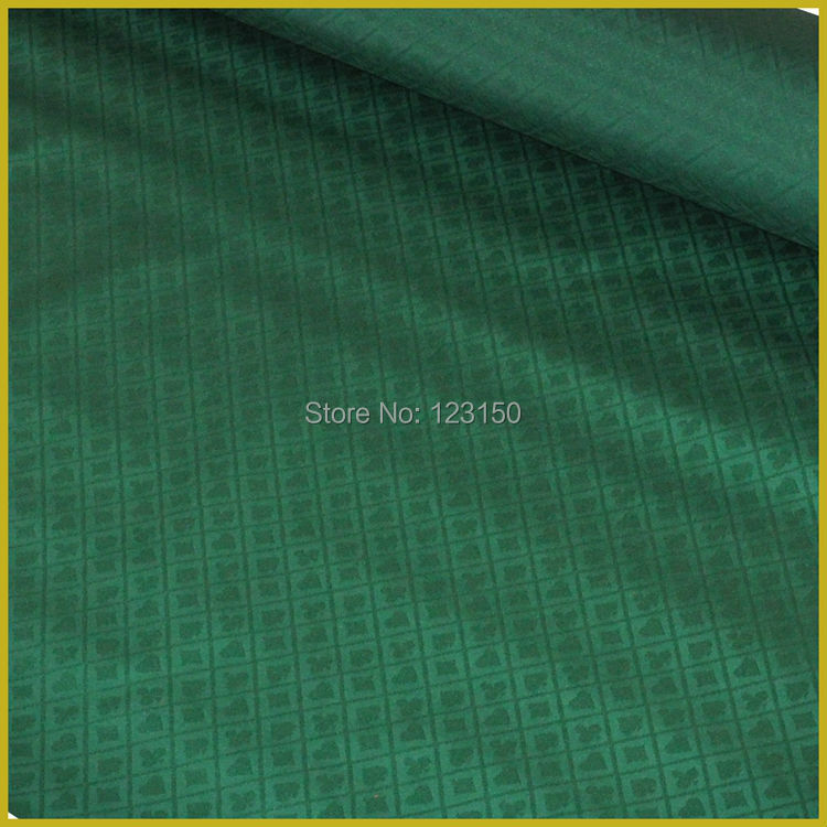 ZB-022-1 Green Poker Table Waterproof Suited High Speed Cloth, Casino Professional