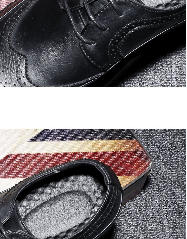 New Spring Autumn Man Genuine Leather Dress Shoes big size Breathable soft Fashion Sleeve Business Wedding Oxford Formal Shoes (2)