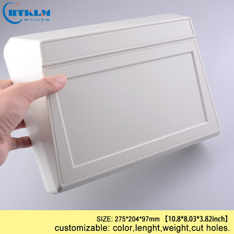 ABS Plastic Project Case Plastic Enclosure Electronic Housing Products Diy Instrument Wire Connectors Desktop Box 275*204*97mm